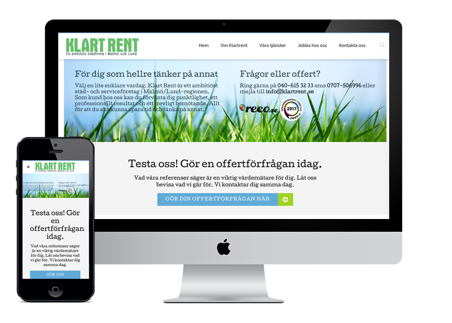 Klartrent AB Wordpress
