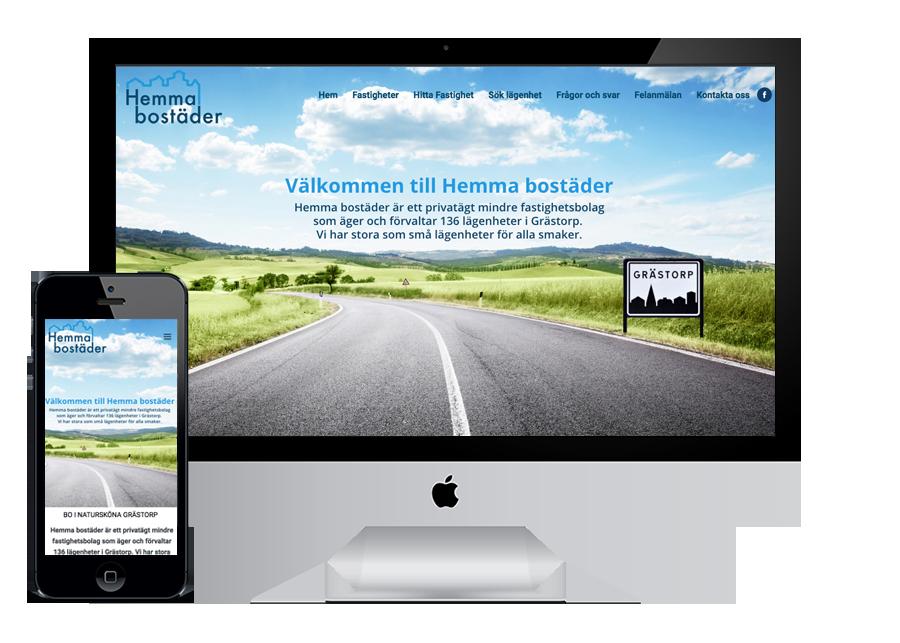 Grästorp Wordpress hemsida