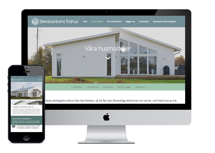 Stenbackens Wordpress hemsida